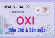 Điều chế, sản xuất Oxi (O2) trong phòng thí nghiệm và trong công nghiệp - hoá 8 bài 27